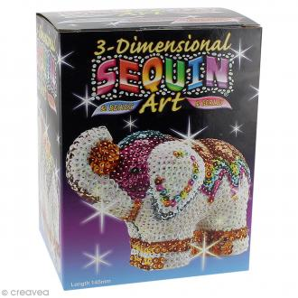 Kit Sequin art 3D - Eléphant - 10,5 cm