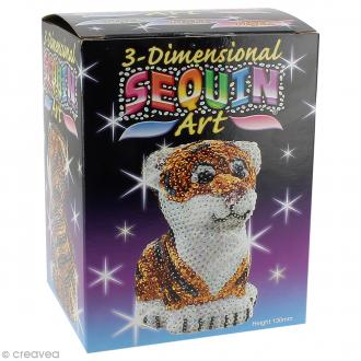 Kit Sequin art 3D - Tigre - 13 cm