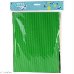Papier mousse effet ondulé - 21 x 27,5 cm - 10 feuilles assorties