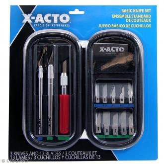 Coffret de 3 cutters X-Acto + lames - Kit de base