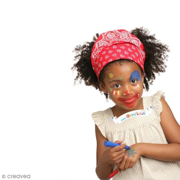 Maquillage stick Grim\u0027tout , Lavables , Orange, rose, violet, bleu, kaki et  marron , 6 pcs