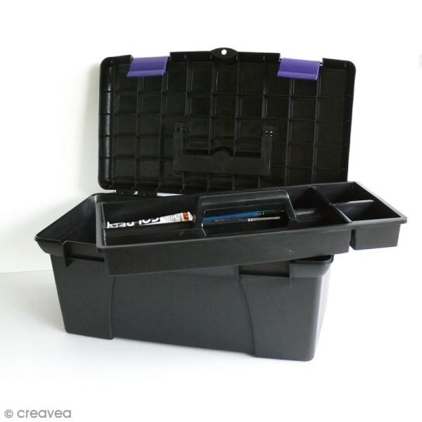 Boîte de rangement pour matériel créatif - 39 x 23 x 19 cm - Photo n°1