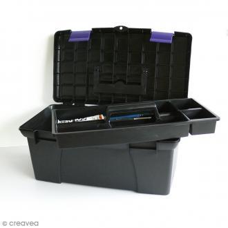 Boîte de rangement pour matériel créatif - 39 x 23 x 19 cm