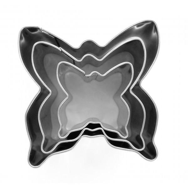 Lot de 3 Emporte-pièces acier Inoxydable Papillons Graine créative 265048 - Photo n°1