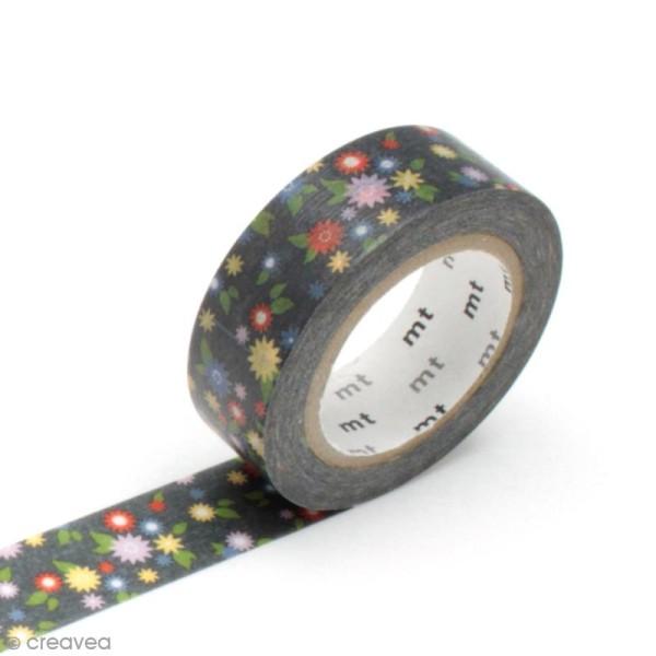 Masking tape fleurs - Nuée de fleurs - 15 mm x 10 m - Photo n°1