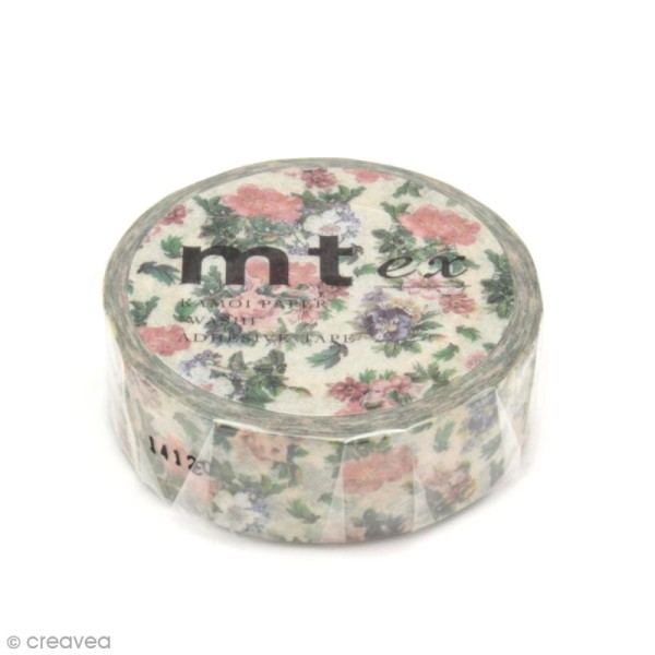 Masking tape fleurs - Fleurs vintages - 15 mm x 10 m - Photo n°2