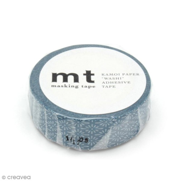 Masking tape fleurs - Fleurs bleues - 15 mm x 10 m - Photo n°2