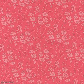 Tissu Liberty Capel rose corail - 3055 A - Par 10 cm (sur mesure)