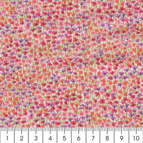 Tissu Liberty Loveday violet et rose - 5162 D - Par 10 cm (sur mesure) - Photo n°2