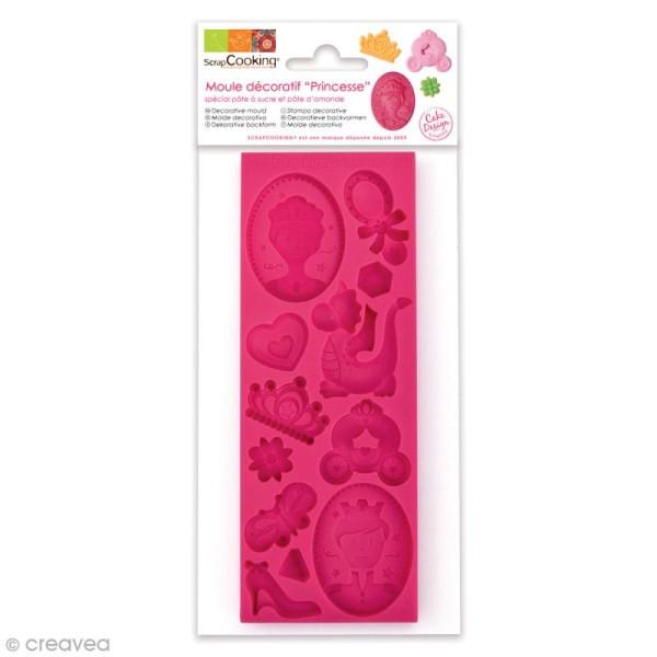Moule pâte à sucre Princesse - 16 x 6 cm - 12 formes - Photo n°1