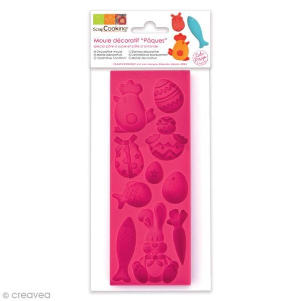 Moule pâte à sucre Pâques - 16 x 6 cm - 10 formes - Photo n°1