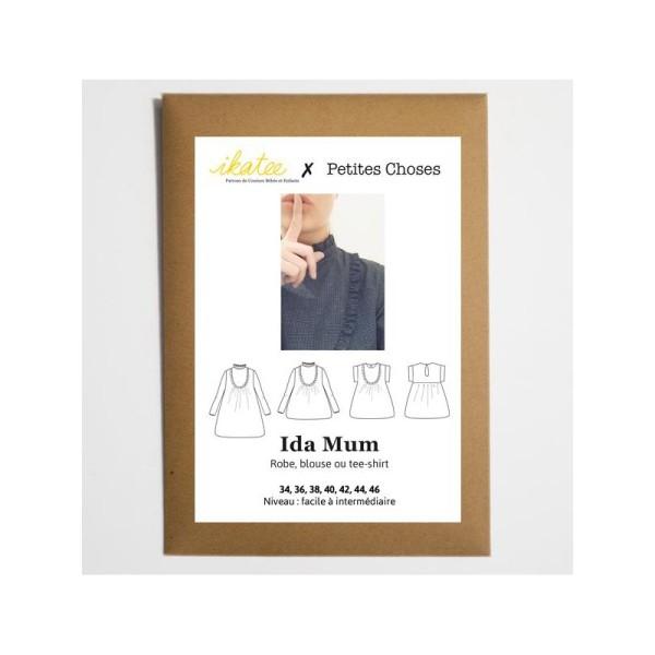 Pochette patron Robe, blouse ou t-shirt IDA MUM by Ikatee - Photo n°1