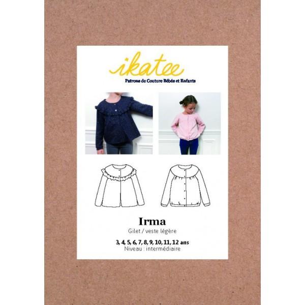 Pochette patron Gilet / veste IRMA pour fille by Ikatee - Photo n°1
