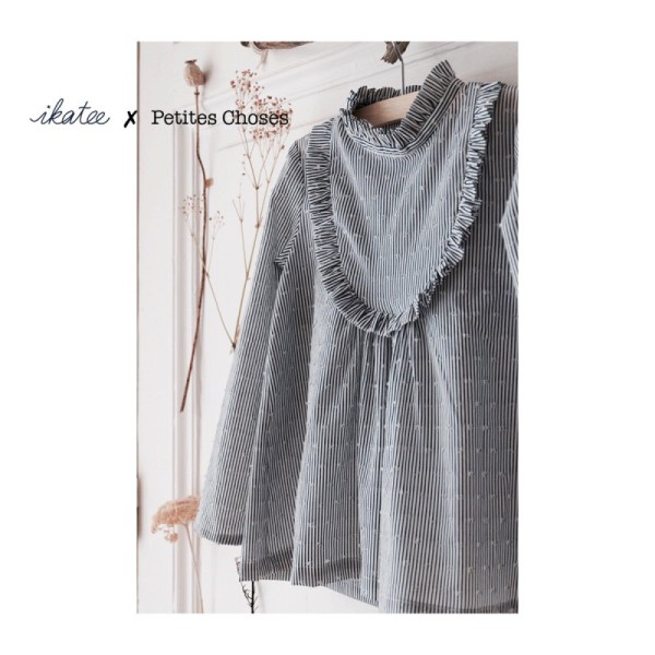 Pochette patron Robe, blouse ou t-shirt IDA pour fille by Ikatee - Photo n°1