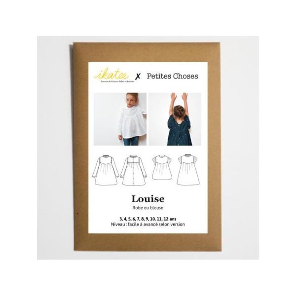 Pochette patron Robe ou blouse LOUISE pour fille by Ikatee - Photo n°2