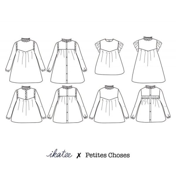 Pochette patron Robe ou blouse LOUISE pour fille by Ikatee - Photo n°3