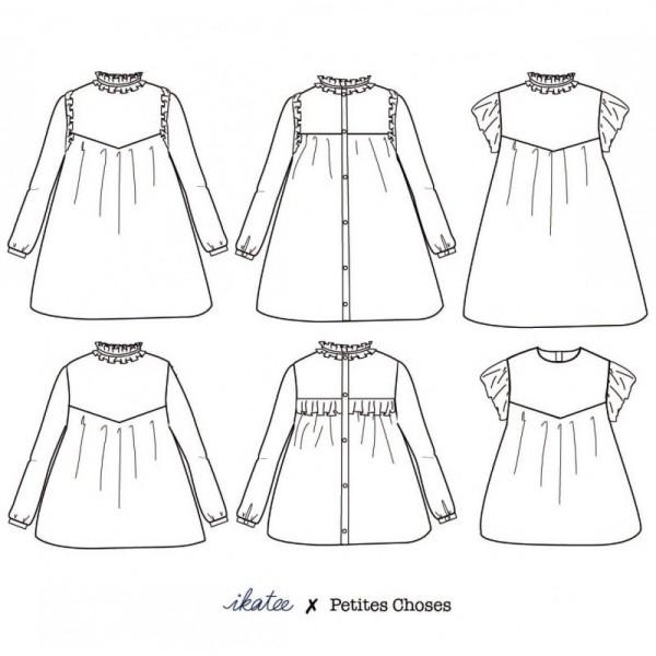 Pochette patron Robe ou blouse LOUISE pour fille by Ikatee - Photo n°4