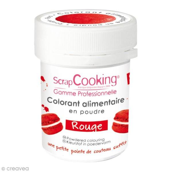 Colorant poudre alimentaire artificielle - Rouge - 5 g - Photo n°1