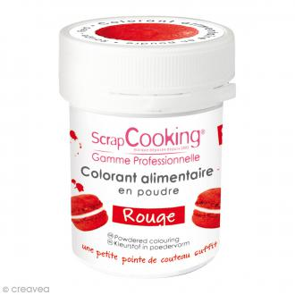 Colorant poudre alimentaire artificielle - Rouge - 5 g