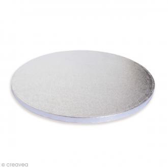 Support rond à gâteaux argenté - 30 cm