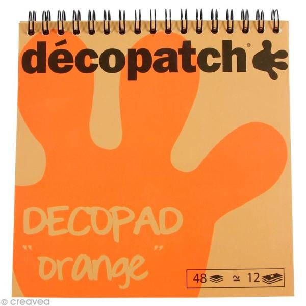 Bloc Decopad Décopatch Orange - 15 x 15 cm - 48 feuilles - Photo n°1