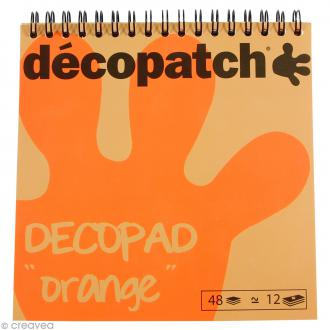 Bloc Decopad Décopatch Orange - 15 x 15 cm - 48 feuilles