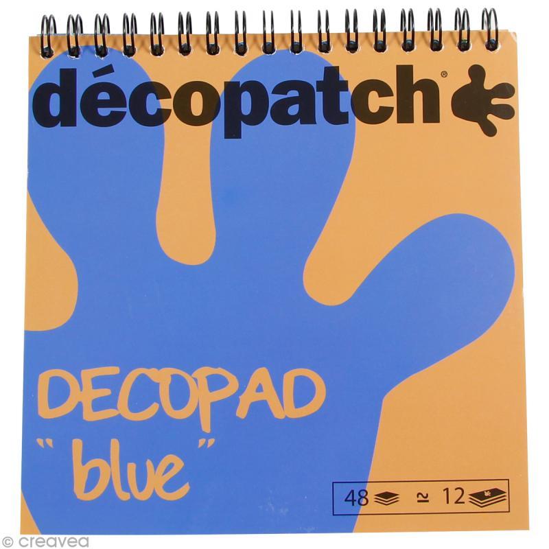 Bloc Decopad Décopatch Bleu - 15 x 15 cm - 48 feuilles - Photo n°1