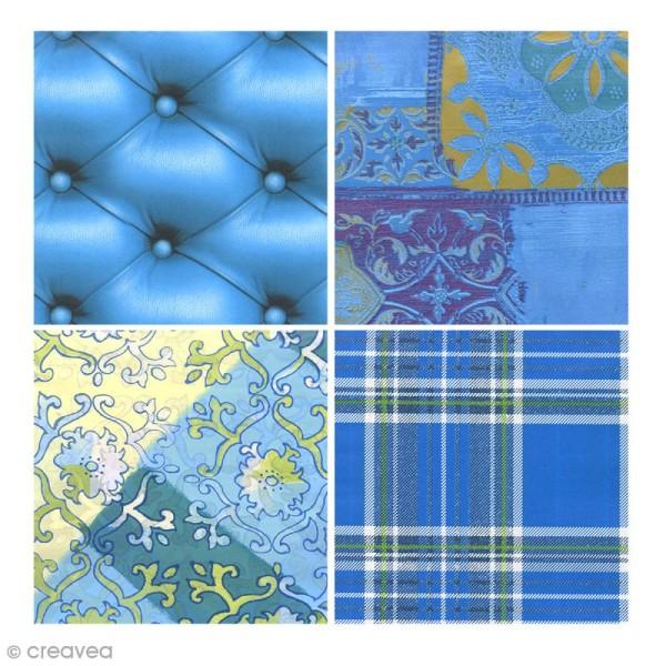 Bloc Decopad Décopatch Bleu - 15 x 15 cm - 48 feuilles - Photo n°3