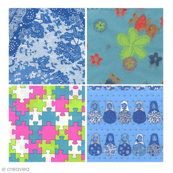 Bloc Decopad Décopatch Bleu - 15 x 15 cm - 48 feuilles - Photo n°4