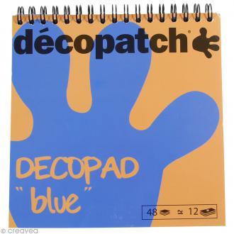 Bloc Decopad Décopatch Bleu - 15 x 15 cm - 48 feuilles