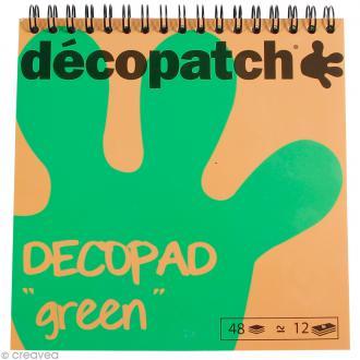 Bloc Decopad Décopatch Vert - 15 x 15 cm - 48 feuilles
