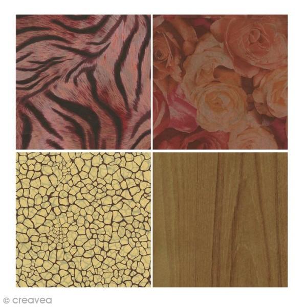 Bloc Decopad Décopatch Marron brun - 15 x 15 cm - 48 feuilles - Photo n°2