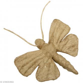 Papillon en papier mâché - 9 x 12 x 1,5 cm