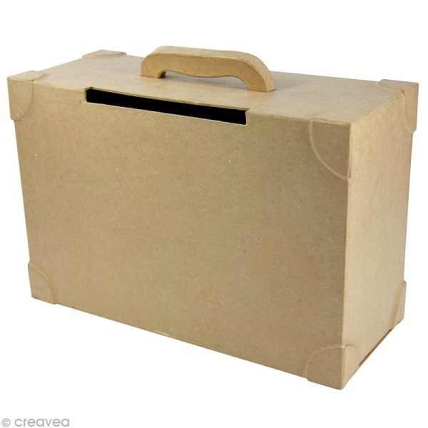 Urne valise 35,5 x 25,5 cm à décorer - Photo n°1