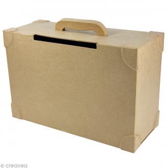 Urne valise 35,5 x 25,5 cm à décorer