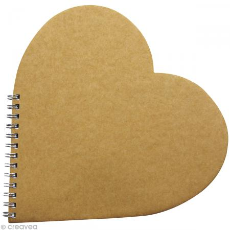Livre d'or coeur 20 x 20 cm à décorer - Photo n°1