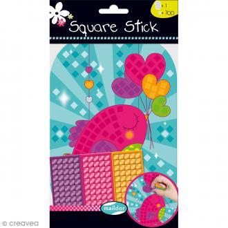 Kit gommettes Mosaïque - Square Stick - Coeur