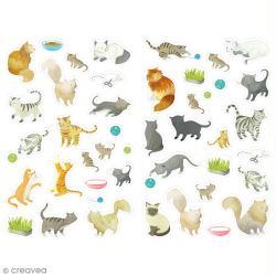 Gommettes Mimi Stick - Chats - 12 planches 21 x 16 cm - 480 pcs