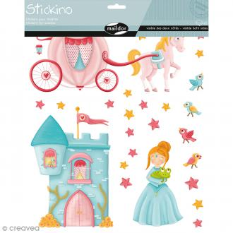 Stickers Fenêtre Stickino - Princesses - 1 planche 30 x 38 cm
