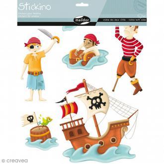 Stickers Fenêtre Stickino - Pirates - 1 planche 30 x 38 cm