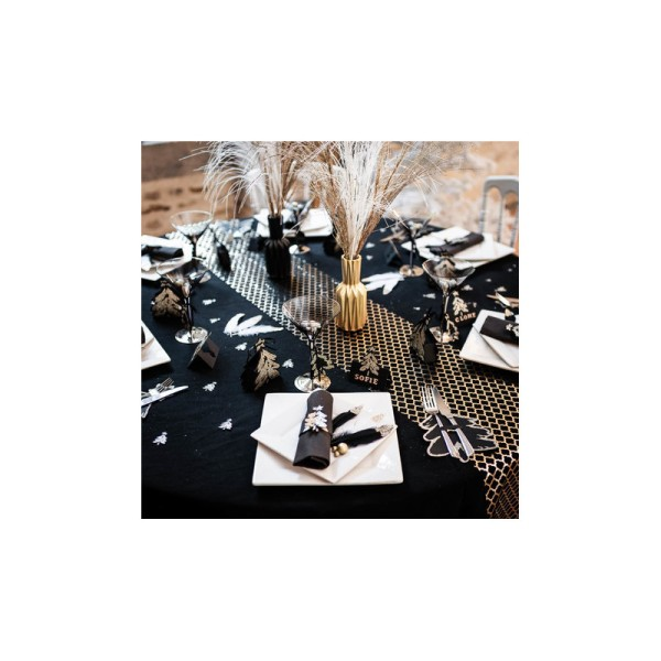 Marque-places sapin noir mat pailletés x8 - Photo n°2