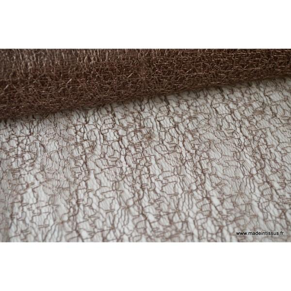 Tissu Tulle résille marron pour décoration - Photo n°1
