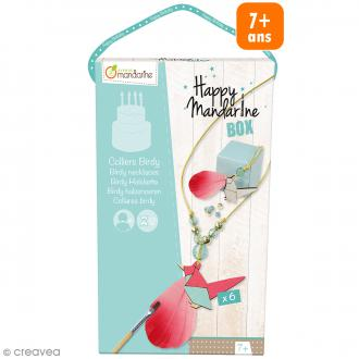 Kit créatif Happy Mandarine Box - Colliers Birdy - 6 personnes