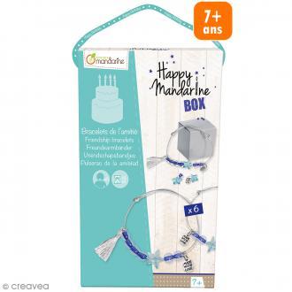 Kit créatif Happy Mandarine Box - Bracelets de l'amitié - 6 personnes
