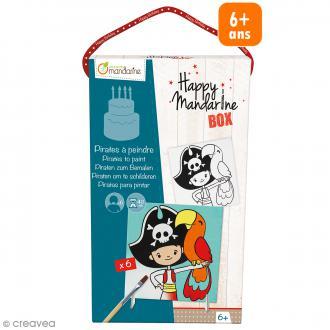 Kit créatif Happy Mandarine Box - Pirates à peindre - 6 personnes