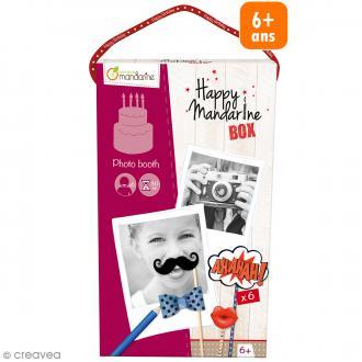 Kit créatif Happy Mandarine Box - Photo Booth - 6 personnes