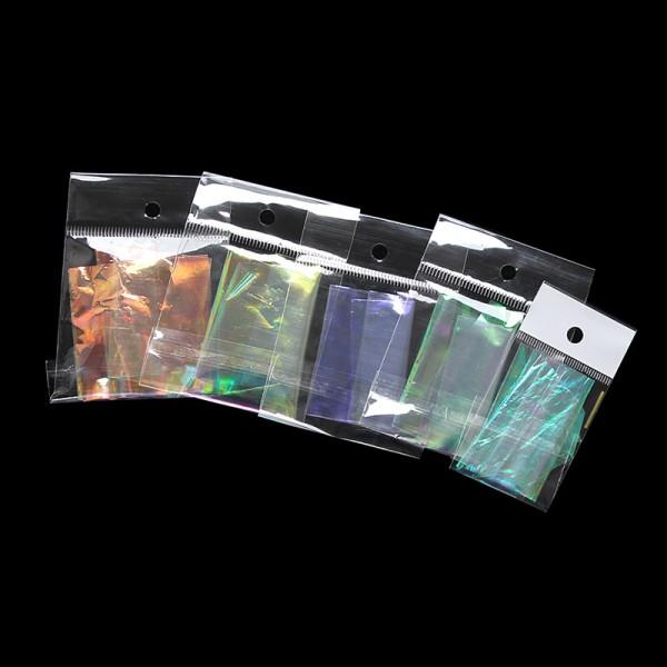 3 Feuilles de Papier transparent DIY Holographique  20x5cm - Création bijoux - SC0116365 - Photo n°1