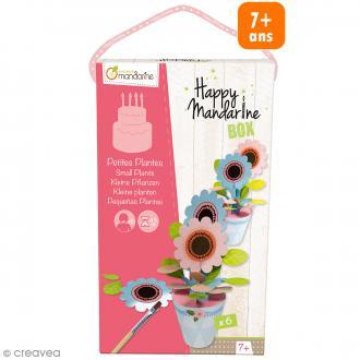 Kit créatif Happy Mandarine Box - Petites plantes - 6 personnes