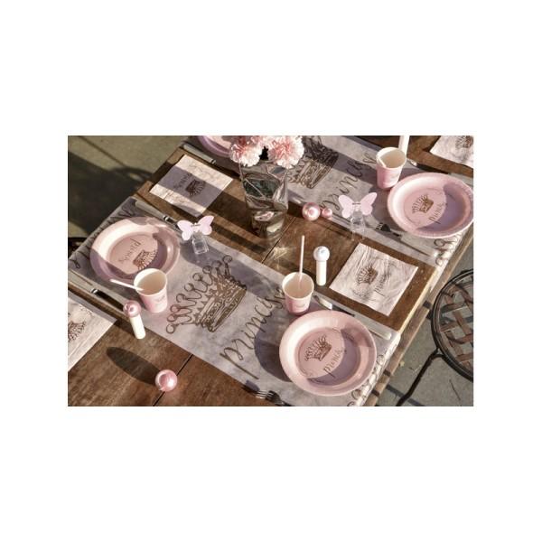 Chemin de table princesse rose - Photo n°2