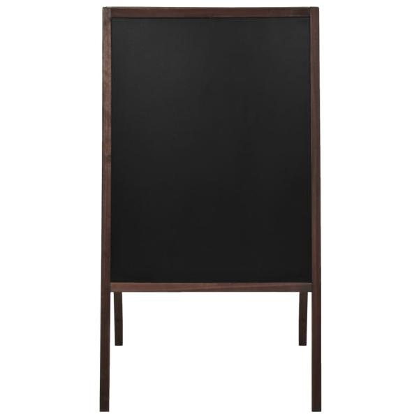 vidaxl tableau noir double face bois de c dre autoportant 60x80 cm tableau noir adh sif creavea. Black Bedroom Furniture Sets. Home Design Ideas